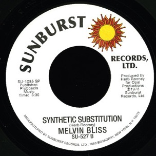 """Synthetic Substitution"" Singer / Sample Icon Melvin Bliss Dies"