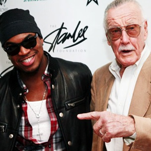 Ne-Yo & Comic Pioneer Stan Lee Appear Together At Comic Con