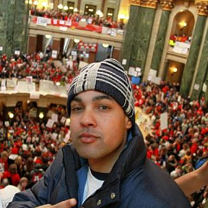 Jasiri X Films Music Video at Wisconsin Protest