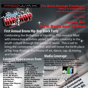 Prodigy, Wu-Tang To Appear At 1st Annual Bronx Block Party