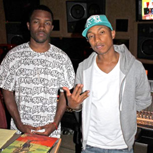 Pharrell In The Studio With OFWGKTA's Frank Ocean