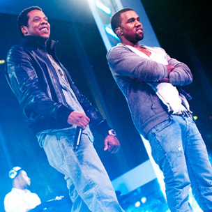 Jay-Z & Kanye West Perform At Sweet 16 In New York City