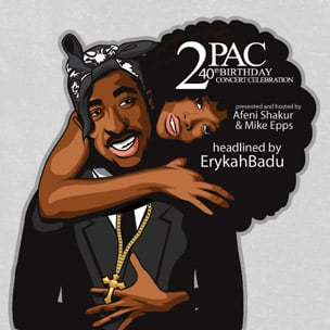 Erykah Badu, Bun B, Meek Mill To Headline 2Pac's 40th Birthday Concert