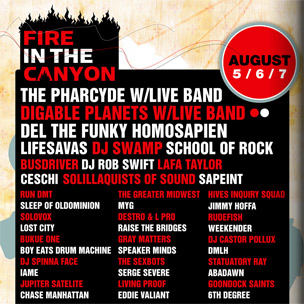 The Pharcyde, Digable Planets & More To Play Fire In The Canyon Festival