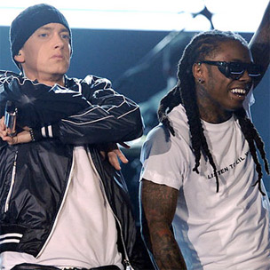 "Eminem & Lil Wayne Perform ""No Love"" In Sydney, Australia"