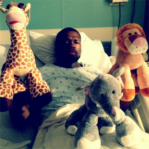 50 Cent Hospitalized, Tweets About Condition