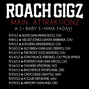 "Roach Gigz Announces ""The Bugged Out Tour"" Dates"
