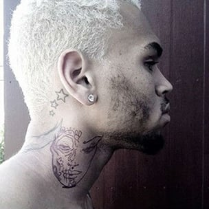 Chris Brown's Publicist Says Neck Tattoo Depicts MAC