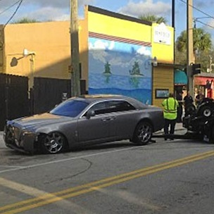 Rick Ross Crashes Rolls Royce While Escaping Shooting Attack