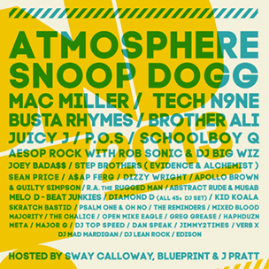 Atmosphere, Snoop Dogg & Tech N9ne To Perform At Soundset Festival