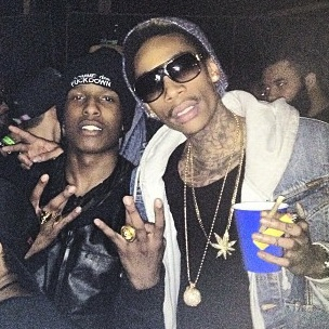 "Wiz Khalifa & A$AP Rocky Plan To Collaborate Before ""Under The Influence Tour"""