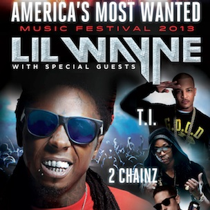 "Lil Wayne, T.I., French Montana & 2 Chainz ""America's Most Wanted Tour"" Dates"
