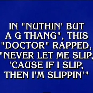 Jeopardy's Alex Trebek - Recites Rap Lyrics