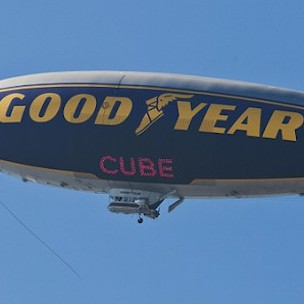 "Ice Cube's Name On Goodyear Blimp In Honor Of ""It Was A Good Day"""