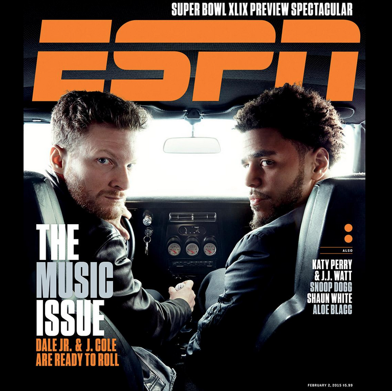 J. Cole Discusses Dale Earnhardt Jr. Relationship In ESPN The Magazine Cover Story