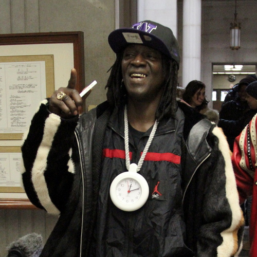 Flavor Flav Pleads Not Guilty To Felony Charges Wearing Giant TimePiece