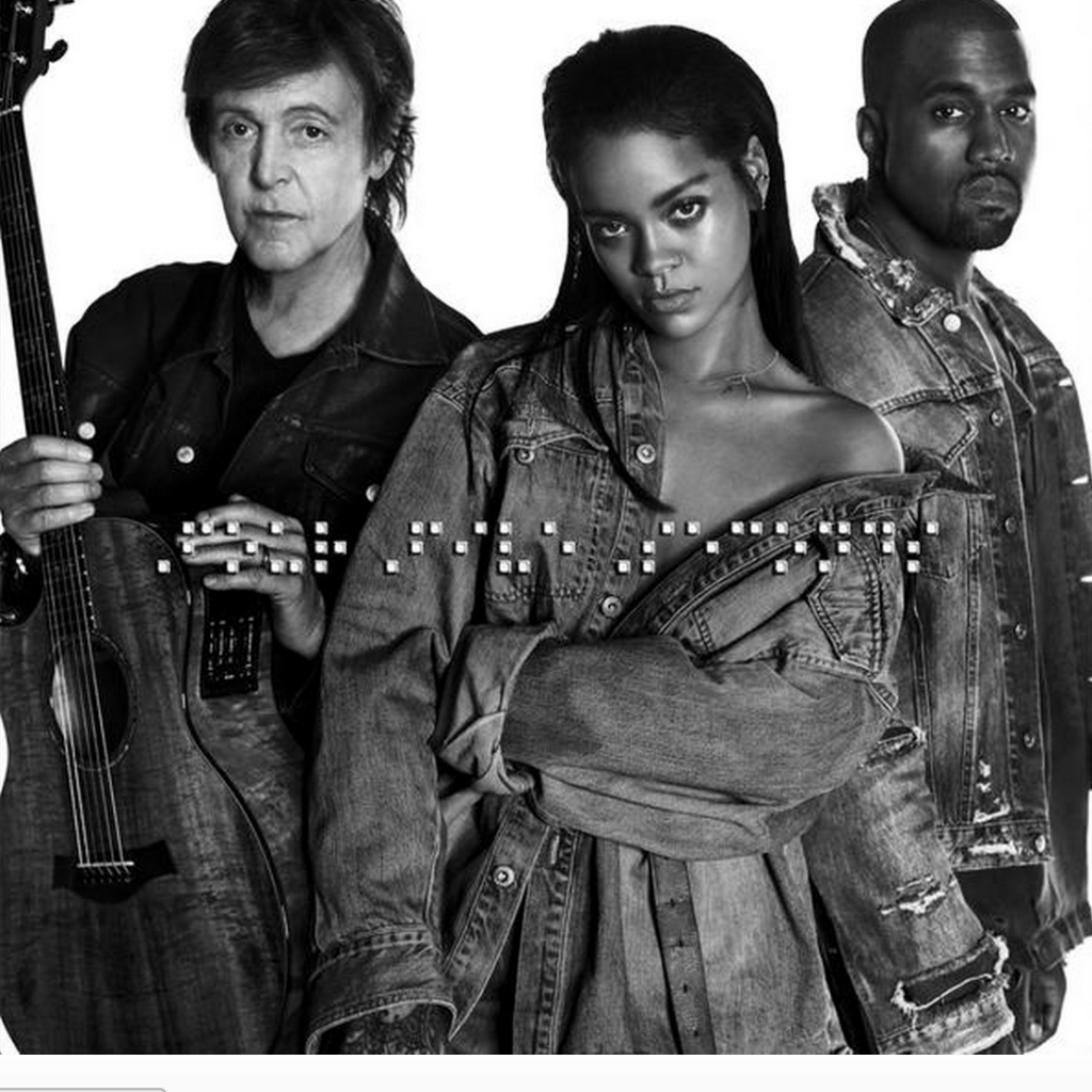 "Rihanna, Kanye West, Paul McCartney Team Up for ""FourFiveSeconds"""