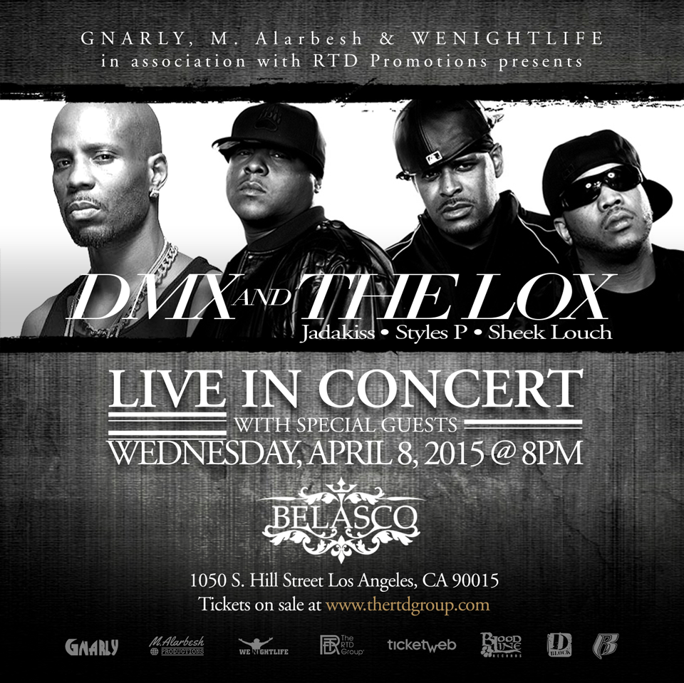 DMX, The Lox To Perform At Belasco Theater In Los Angeles | HipHopDX