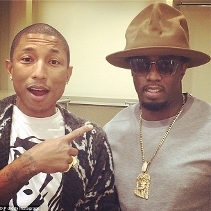 """Pharrell Williams & Puff Daddy Videotaped Working On """"No Way Out 2"""""""