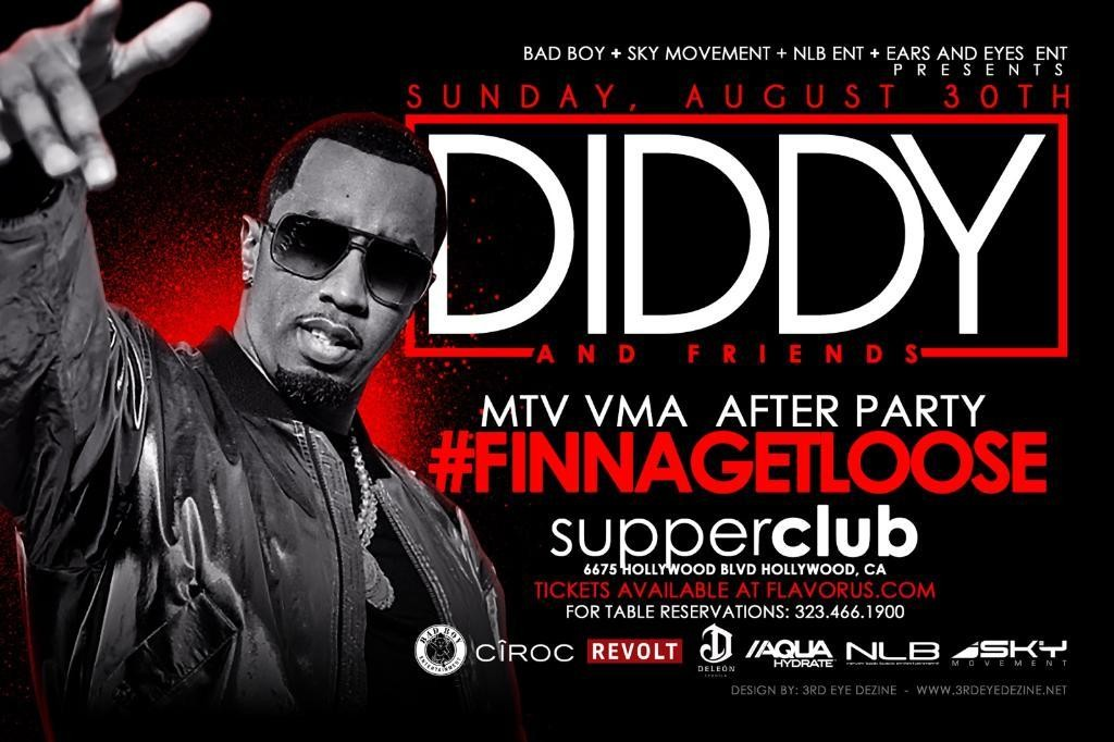Diddy's MTV VMA After-Party Ticket Giveaway