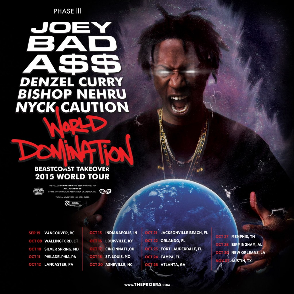 "Joey Bada$$ ""World Domination Tour"" Ticket Giveaway"