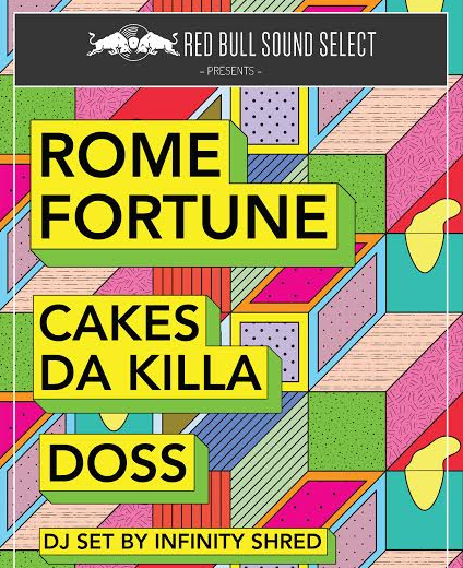 Win tickets to see Rome Fortune, Cakes Da Killa, and Doss
