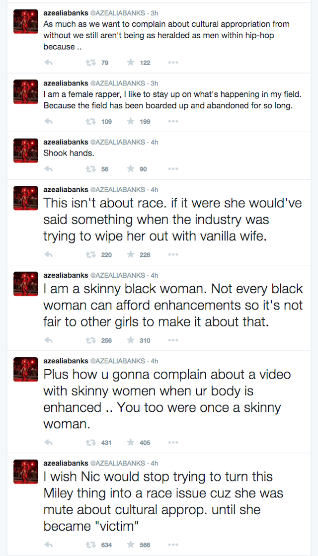 2015 100715 Azealia Banks Nicki Minaj Tweets 1