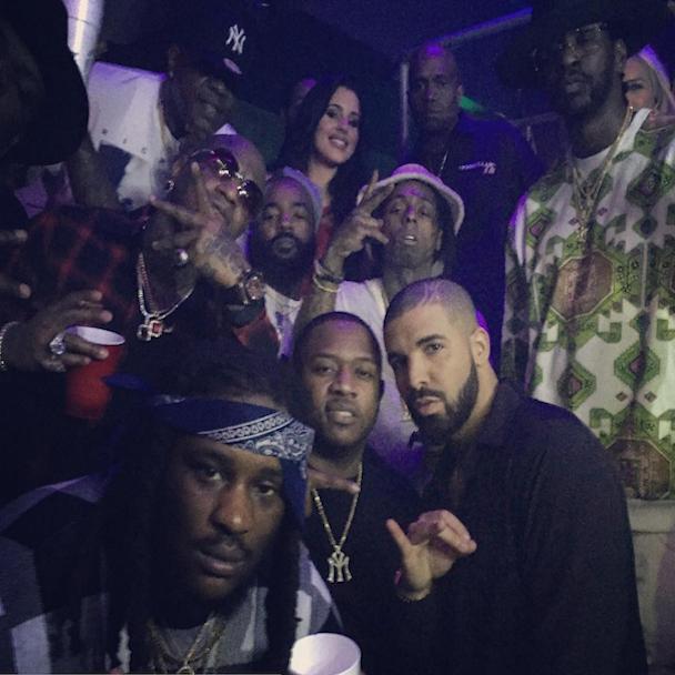 Instagram Flexin': Lil Wayne, Birdman & Drake Pictured Together On New Years Eve