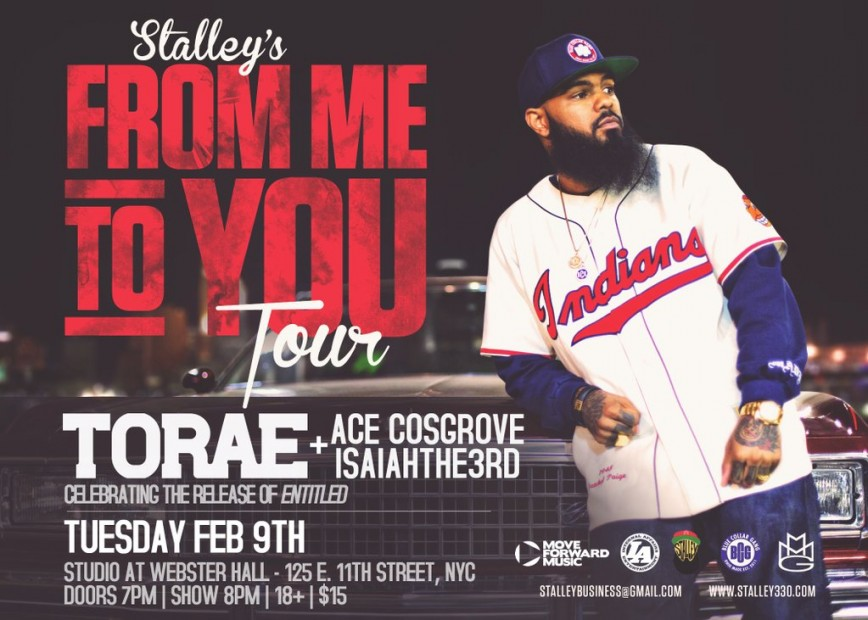 Stalley, Torae, Ace Cosgrove + IsaiahThe3rd TICKET GIVEAWAY!