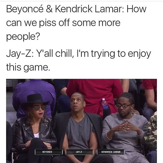 Memes About Beyonce, Jay Z & Kendrick Lamar Visit To A ...