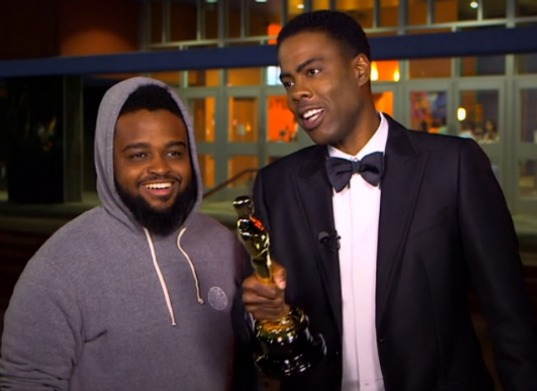 Chris Rock Interviewed Hip Hop Video Director Calmatic During Oscars 2016