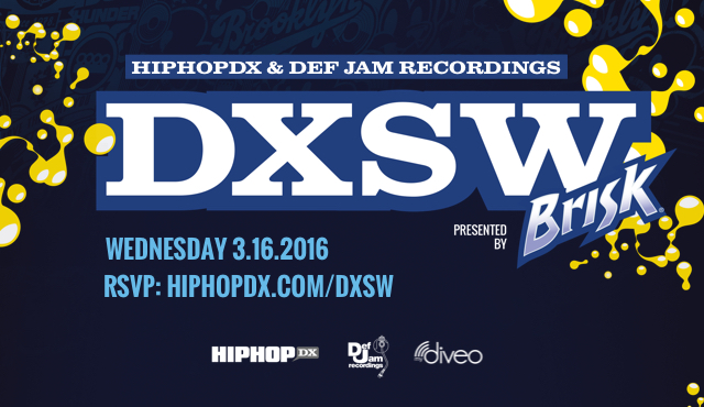 GIVEAWAY: mydiveo Partners With HipHopDX For SXSW Showcase & #BriskDXSW VIP Artist Contest To Watch Pusha T, Lil Durk & Many More TBA In Austin 3/16!