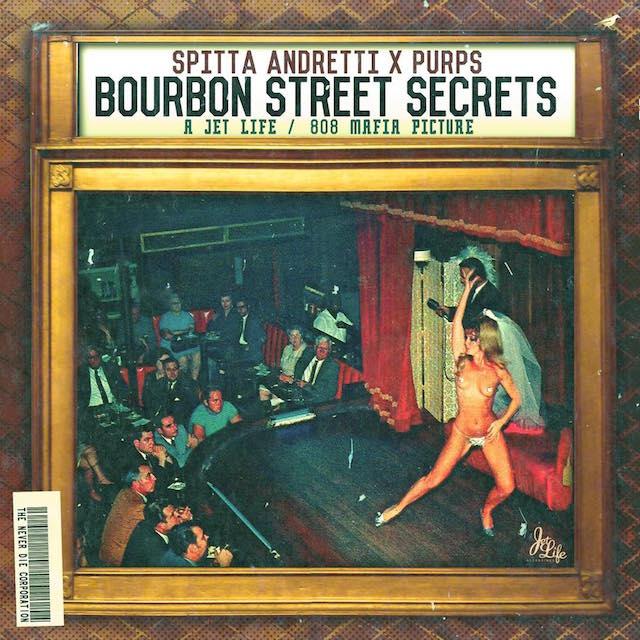 """Curren$y Purps """"Bourbon Street Secrets"""" Cover Art"""