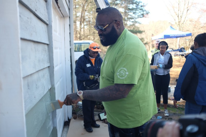 Rick Ross Supports Habitat For Humanity Project For Veteran