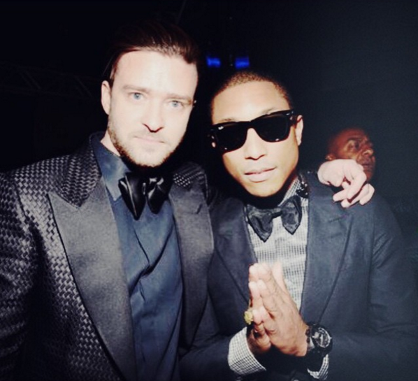 Pharrell & Justin Timberlake Pictured Together In The Studio