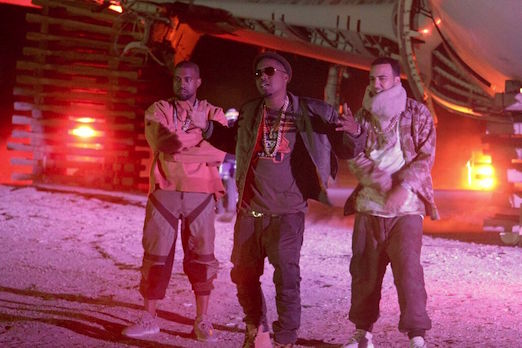 "French Montana Shoots ""Figure It Out"" Video With Kanye West & Nas"