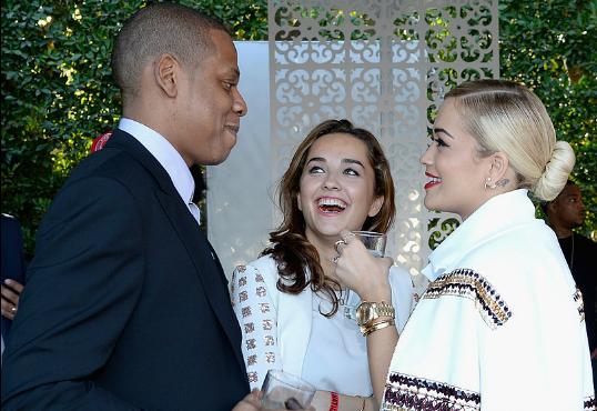 """Rita Ora Hangs With Beyonce & Wears """"Not Becky"""" Pin At Met Gala"""