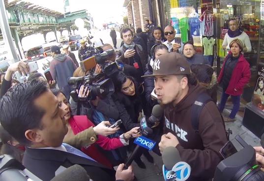 Rebel Diaz Member RodStarz Confronts Ted Cruz In The Bronx