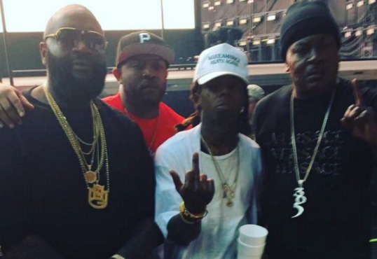 """Lil Wayne Gets """"Respeck"""" From Rick Ross, Trick Daddy At Beyonce Miami Concert"""