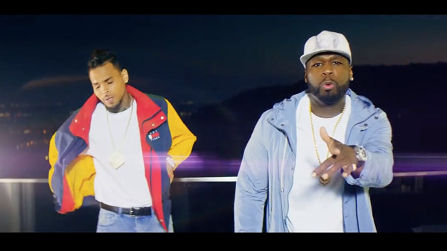 """50 Cent & Chris Brown Let The Haters Know """"I'm The Man"""" With Kandypens"""