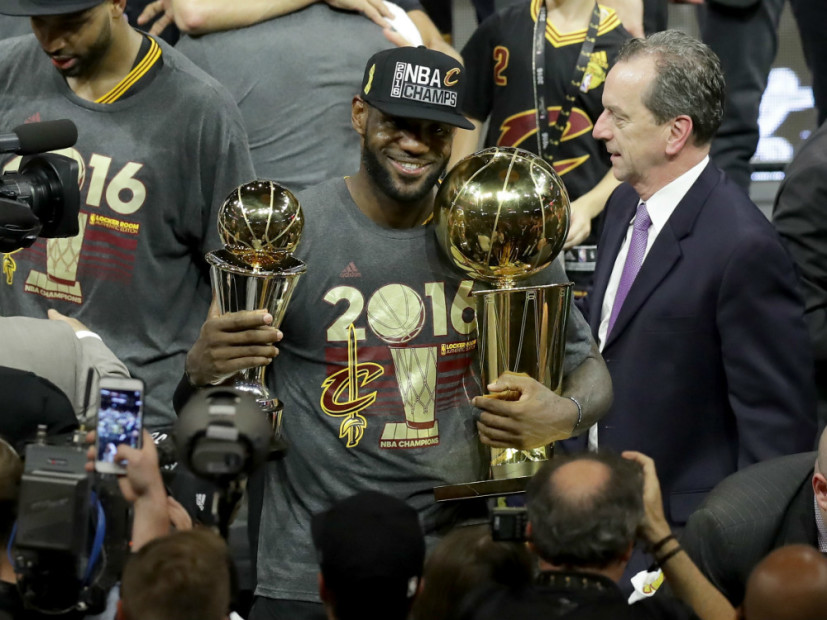 online retailer 28e97 bf079 LeBron James Wins First Title For Hometown With Cleveland Cavaliers
