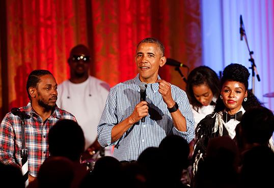 Kendrick Lamar, Barack Obama & Janelle Monae Sing Happy Birthday To President's Daughter Malia