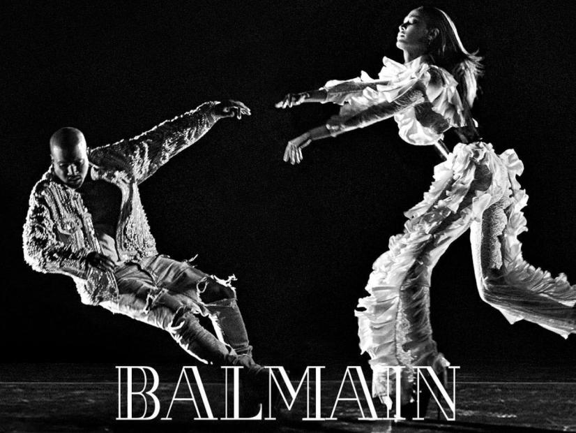 Kanye West & Joan Smalls Star In Balmain's Fall 2016 Campaign