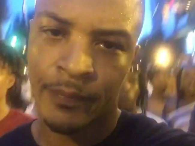 T.I. Marches With Atlanta Protesters