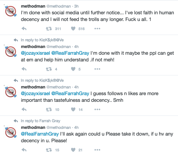 method man quits social media