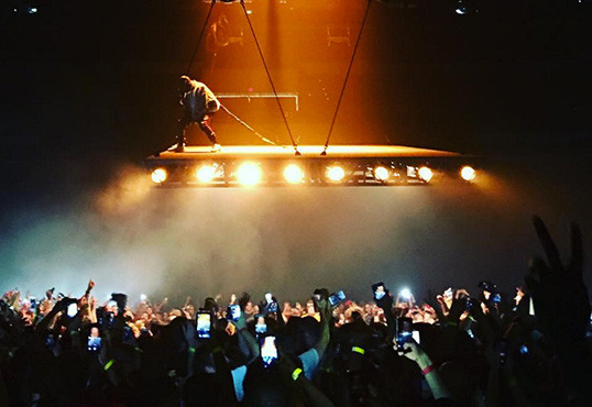 Kanye West Soars Above Crowd To Kick Off Saint Pablo Tour