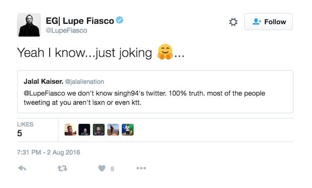 Lupe Tweet 8
