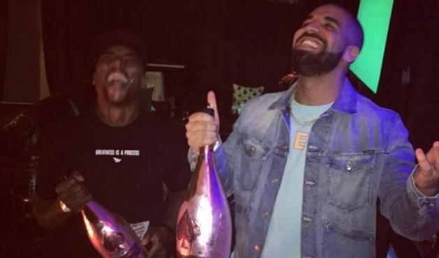 Drake Pops Bottles With Charlamagne Following Hot 97 Slander