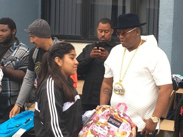 E-40 Blesses Vallejo Middle School Kids With Backpacks & School Supplies