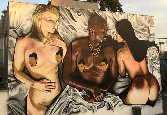 "Kanye West's ""Famous"" Tableau Pops Up As Melbourne Mural"